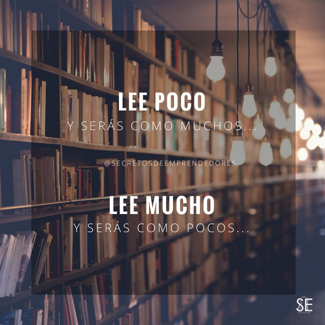 Para vivir como pocos lee mucho